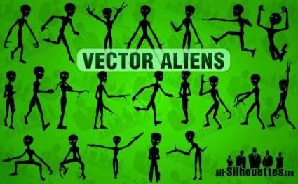 free vector Vector Aliens
