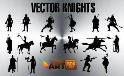 free vector Free Knights Silhouettes