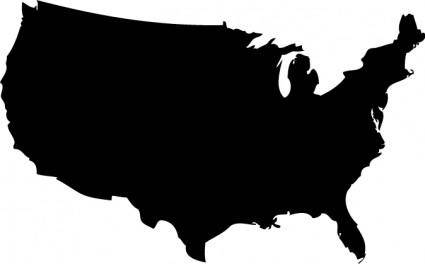 free vector US Map Silhouette Vector