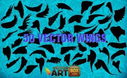 Free Wings Silhouettes