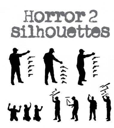 free vector Horror Silhouette -2