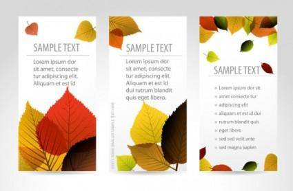 free vector Beautiful maple leaf bookmark 02 vector