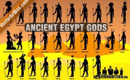 free vector Ancient Egypt Gods