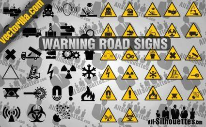 free vector Warning Road Signs