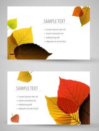Bookmark beautiful maple 01 vector