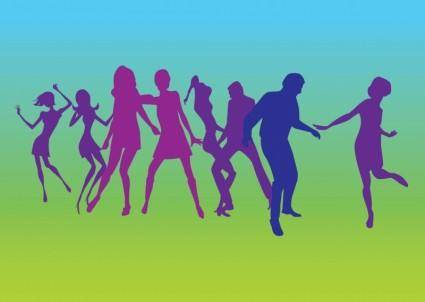 free vector Dancers Silhouettes Vectors