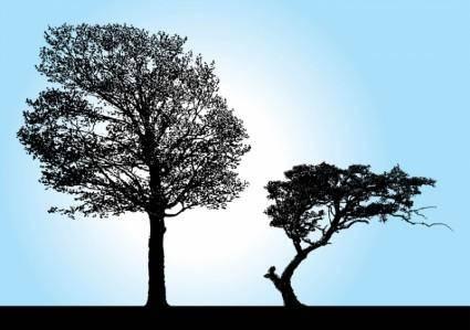 free vector Tree Silhouette Vectors