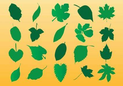 free vector Vector Leaf Silhouette Art