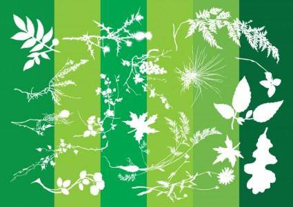 free vector Plants Silhouettes Nature Graphics