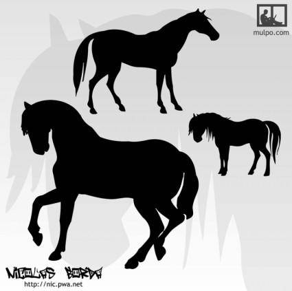 free vector Horses Silhouettes