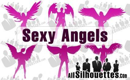 free vector Angel Silhouettes