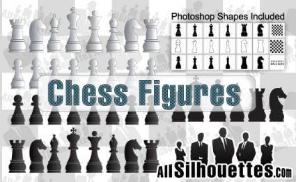free vector Vector Chess Figures