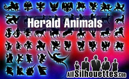 free vector Vector Herald Animals