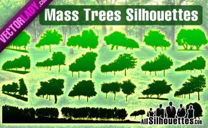 free vector Mass Vector Trees