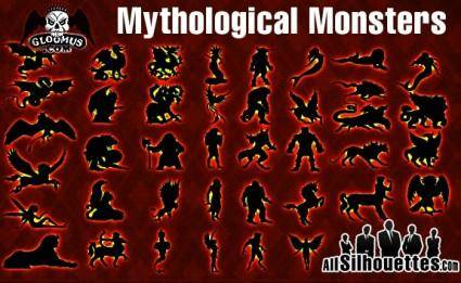 Vector Mythological Monsters