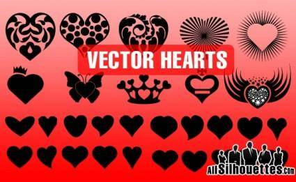 free vector Vector Hearts Shapes