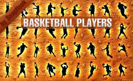 free vector Basketball Players Silhouettes