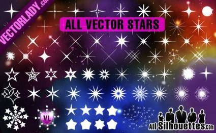 free vector Free Vector Stars