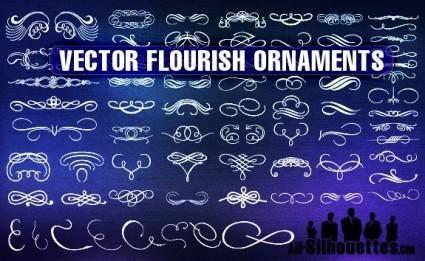 free vector Vector Flourish Ornaments
