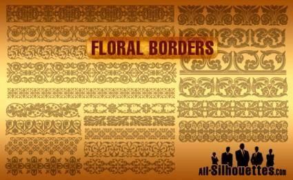 free vector Vector Floral Borders