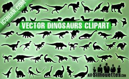 Vector Dinosaurs Clipart