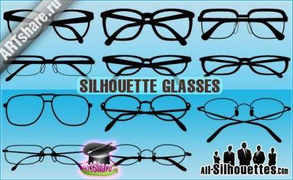 free vector Silhouette Glasses