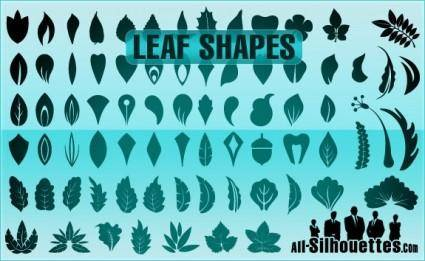 free vector Vector Leaf Shapes