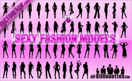 free vector Sexy Fashion Models
