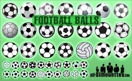 free vector Football Balls