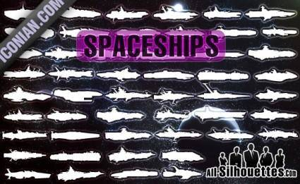 Free Vector Spaceships