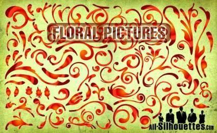 free vector Floral Pictures