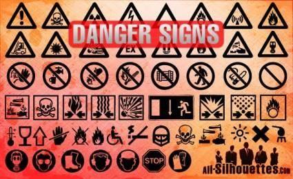 free vector Danger Signs