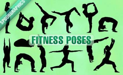 free vector Fitness poses