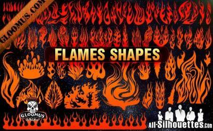free vector Vector Flame Shapes