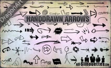 free vector Hand Drawn Vector Arrows