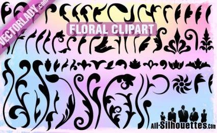 free vector Vector Floral Clipart