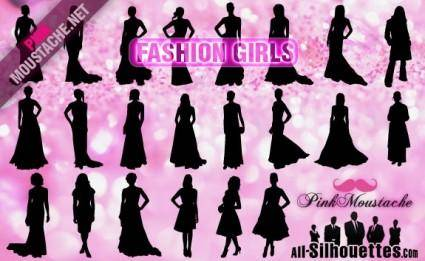 free vector Vector Fashion Girls