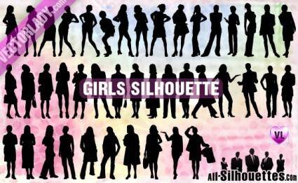 free vector Girl Silhouette