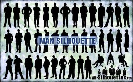 free vector Man Silhouette