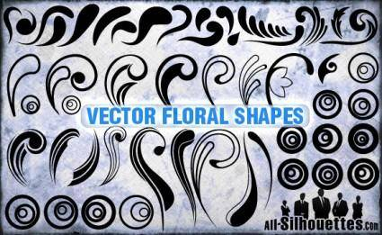 free vector Vector Floral Shapes