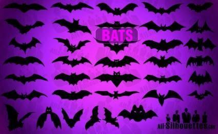 free vector Vector Bats