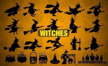 free vector Vector Witches