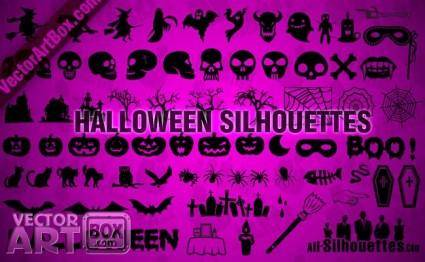 free vector Halloween Silhouettes