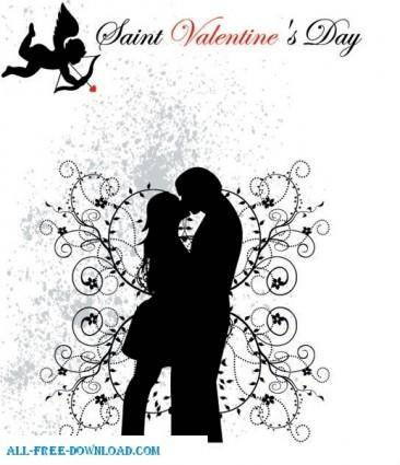 Valentine day peole in love BW