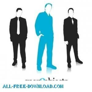 3 Free Vector Business Silhouettes