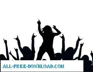 free vector Silhouette Dancing Vectors