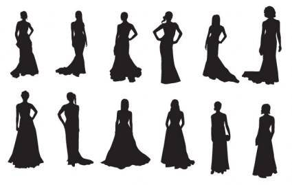 free vector The Red Carpet:20 celebrities silhouettes
