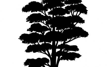 free vector Tree Silhouettes clip art