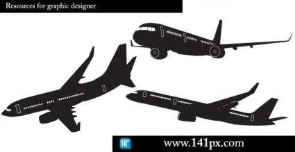 free vector Airplane silhouettes free vector