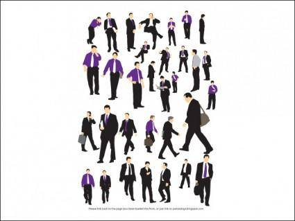 free vector Businessman Silhouettes